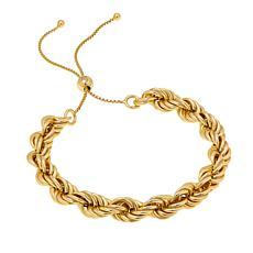 Bellezza Bronze Adjustable Rope-Link Bracelet