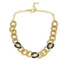 Bellezza Bronze Black Spinel Mesh Link Necklace
