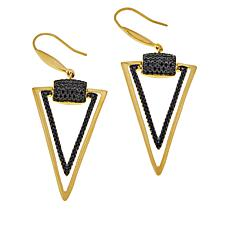 Bellezza Bronze Black Spinel Triangular Drop Earrings