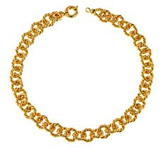 "Bellezza Bronze Bronze Bold Rope-Link 18-1/4"" Necklace"