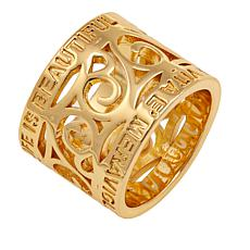 Bellezza Bronze Engraved Scroll Band Ring