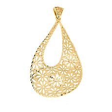 Bellezza Bronze Flower Cutout Teardrop Pendant