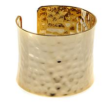 Bellezza Bronze Hammered Cuff Bracelet