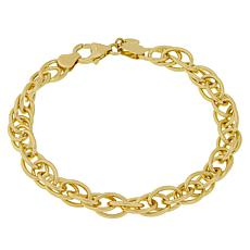 Bellezza Bronze High-Polished Twisted Oval Rolo Bracelet
