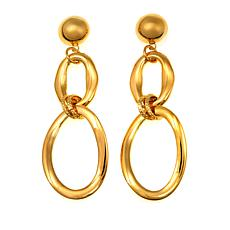 Bellezza Bronze Interlocked Dangle Earrings