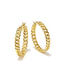 Bellezza Bronze Large Curb-Link Hoop Earrings