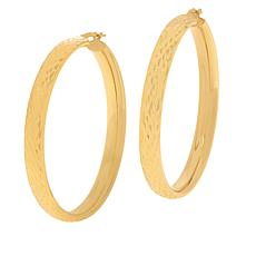 Bellezza Bronze Large Round Hoop Earrings