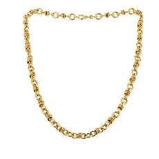 Bellezza Bronze Oval and Multi Rolo Link Necklace