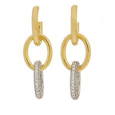 Bellezza Bronze Oval Link Pavé Drop Earrings