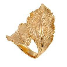 Bellezza Bronze Satin-Finish Bypass Leaf Ring