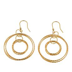 Bellezza Bronze Textured Multi-Circle Drop Earrings