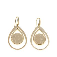 "Bellezza ""Civetta"" 100 Lira Micro Coin Earrings"