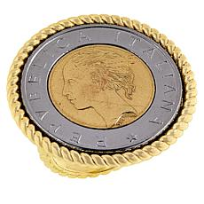 Bellezza Special Edition Lira Coin Bronze Rope Ring