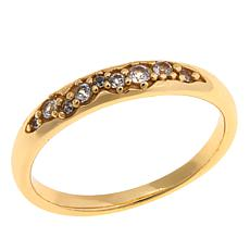 Bellezza White Topaz Bronze Cluster Band Ring