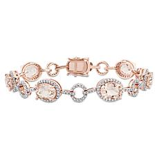 Bellini 14K Rose Gold Diamond and Morganite Link Bracelet