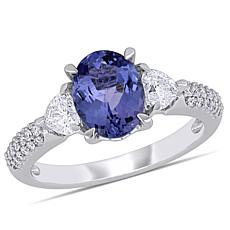 Bellini 14K White Gold Diamond and Tanzanite Ring