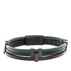 Ben Sherman Men's Triple Leather Bracelet