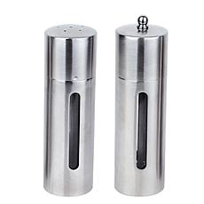 "BergHOFF® 7"" Stainless Steel Salt and Pepper Mill Set"