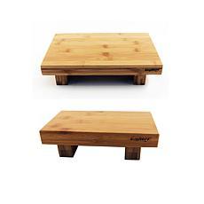 "Berghoff Bamboo 2-piece Sushi Tray Set: 8"" & 10"" Tray"