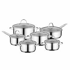 BergHOFF Essentials Comfort 12pc 18/10 Stainless Steel Cookware Set