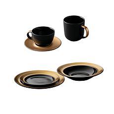 BergHOFF Gem Dinnerware 6-piece Place Setting - Black & Gold