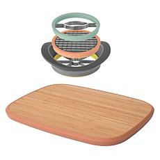 "BergHOFF Leo All-in-One Slicer with 15"" Bamboo Cutting Board"
