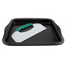 """BergHOFF Perfect Slice 14"""" Cookie Sheet with Tool"""
