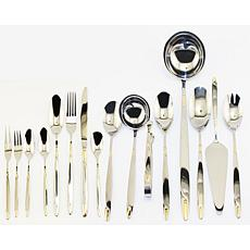BergHOFF® Straight 72-piece Goldtone Flatware Set