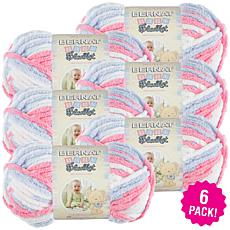 Bernat Baby Blanket Yarn 6-pack - Pink and Blue Ombre