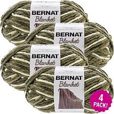 Bernat Blanket Big Ball Yarn 4-pack - Gathering Moss