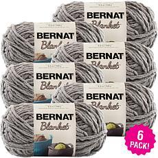 Bernat Blanket Yarn 6-pack - Dark Gray