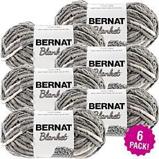 Bernat Blanket Yarn 6-pack - Silver Steel