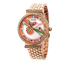 "Bertha ""Emily"" Hummingbird Crystal-Accented Stainless Steel Watch"
