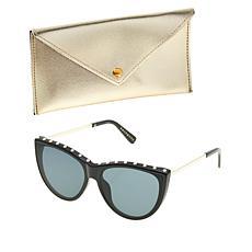 Bethenny Frankel Studded Cat Eye Blue Light Sunglasses