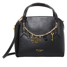 Betsey Johnson Dome Satchel with Crossbody Strap