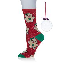 Betsey Johnson Holiday Crew Sock in Ornament