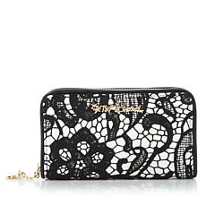 Betsey Johnson Lace Zip-Around Wallet