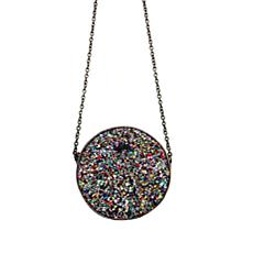 Betsey Johnson Rock On! Circular Crossbody Bag