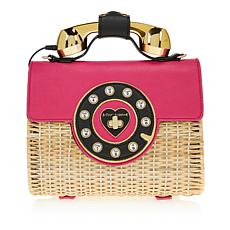 Betsey Johnson Wicker Phone Bag
