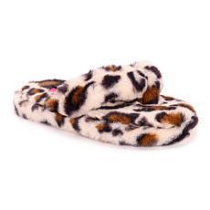 Betsey Johnson Women's Fluffy Flip Flop Slippers