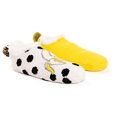 Betsey Johnson Women's Infused Cabin Footie Socks 2-Pair Pack