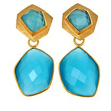 Betty Carré Geometric Stone Goldtone Drop Earrings