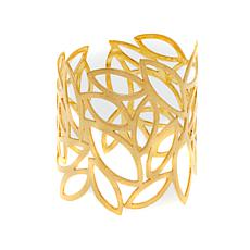Betty Carré Goldtone Cutout Leaf Cuff Bracelet