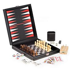 Bey-Berk 5-in-1 Game Set with Black Leatherette Case
