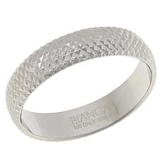 Bianca Milano Sterling Silver Diamond-Cut Band Ring
