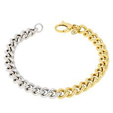 Bianca Milano Sterling Silver Two-Tone Curb Link Bracelet