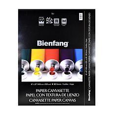 "BIENFANG Canvasette Paper Canvas 16"" x 20"" Pad of 10 Sheets"