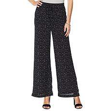 Billy T Star Print Wide-Leg Pant