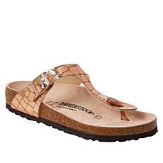 Birkenstock Gizeh Gator Gleam Thong Sandal