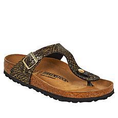 Birkenstock Gizeh Shiny Python Thong Sandal